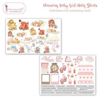 Charming baby girl motif sheet