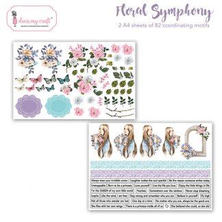 Floral symphony motif sheet