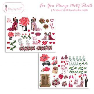 For you always motif sheet