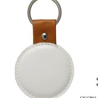 Decoupage keychain round