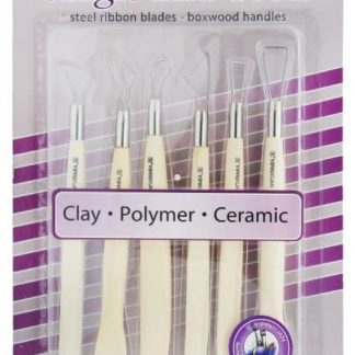Craft Single End Tool Set 6 pcs Wooden