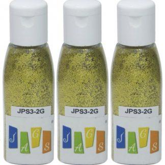 Glitter Powder 3pcs Set Light Gold