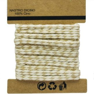 Jute Rope Roll Lace White