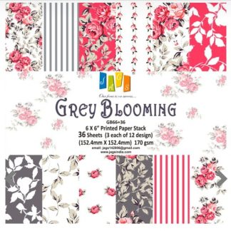 Paper Jags 6*6 Grey Blooming