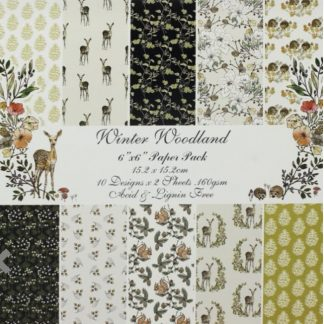 Paper Pack 6*6 Winter Woodland 160 Gms - 1