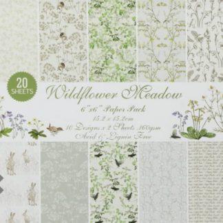 Paper Pack 6*6 Wild Flower Meadow 160 Gsm