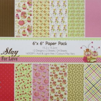 Paper Pack 6*6 Stay For Love