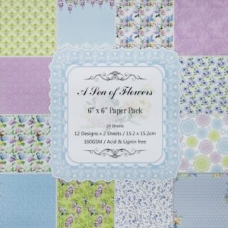 Paper Pack 6*6 A Sea Of Flowers