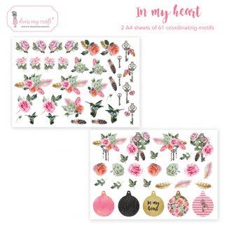 In my heart motif sheet