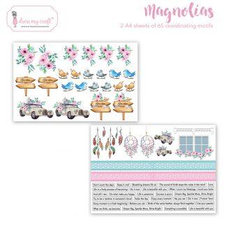 Magnolias motif sheet