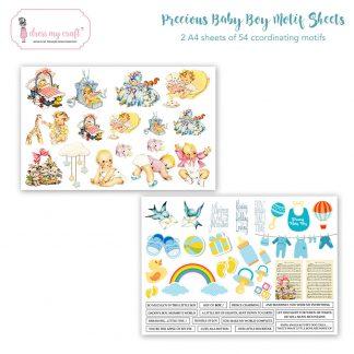 Precious Baby boy motif sheet