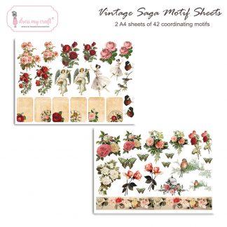 Vintage saga motif sheet
