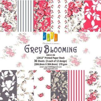 grey blooming - Jag's Paperpacks