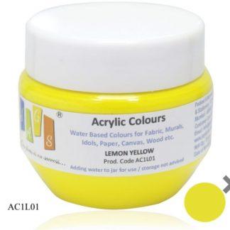 Acrylic Colour 75 gms Lemon Yellow