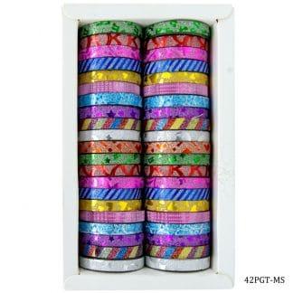 Craft Glitter Tape Small 42pcs Box 42PGT-MS
