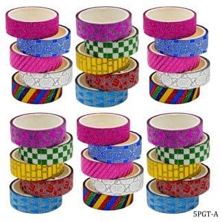 Craft Glitter Tape Small 5x6 30pcs Box Set 5PGT-A
