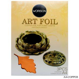 Art Foil Paper A4 3pcs Copper 210X297MM A4-COPPER