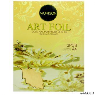 Art Foil Paper A4 3pcs Gold 210X297MM A4-GOLD