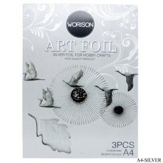 Art Foil Paper A4 3pcs Silver 210X297MM A4-SILVER