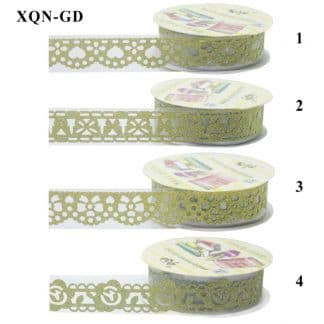 Craft Decoration Lace Tape Golden XQN-GD