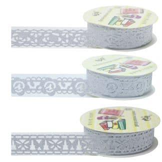 Craft Decoration Lace Tape Silver XQN-SR