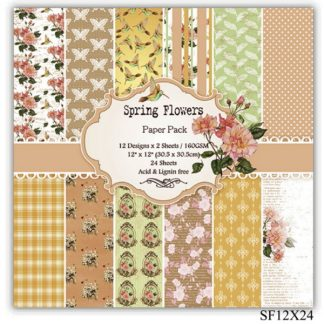 Paper Pack 12*12 Spring Flowers SF12X24