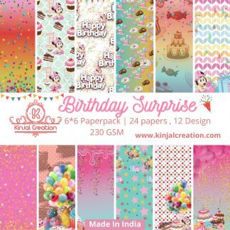 Birthday Suprise 6*6 paperpacks scrapbooking