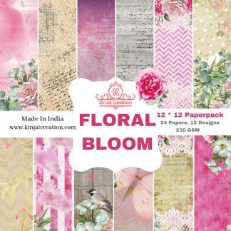 Floral Bloom 12*12 paperpacks scrapbooking