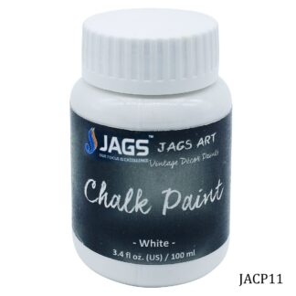 Jags Art Chalk Paint White 4.4 Oz 125ML JACP11