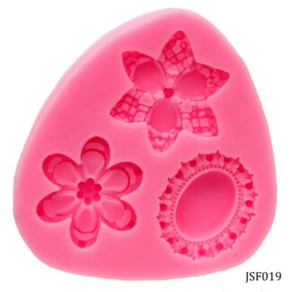 Silicone Mould 2 Flower 1 Pendant Design JSF019