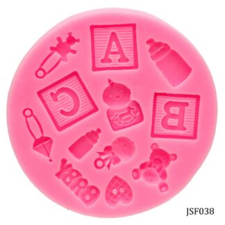 Silicone Mould 12 Design ABC Baby Shower JSF038