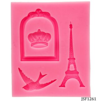Silicone Mould 3 Design E Tower Bird Crown JSF1261